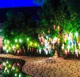 Loy Krathong festival at Wat Phan Tao Stock Image