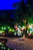 Loy Krathong festival at Wat Phan Tao Royalty Free Stock Photo