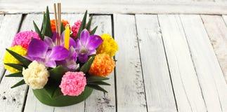 Loy Krathong Festive - Imagen de archivo libre de regalías