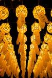 Loy Krathong Lantern Festival in Chiang Mai Fotografia Stock