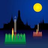 Loy Krathong Stock Vector Illustration Royalty Free Stock Photo