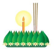 Loy Krathong, Thai full moon traditional festival Stock Photo