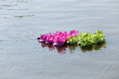 Loy krathong in thailand river Stock Photography