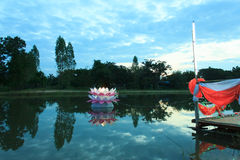Loy Krathong tradition Royalty Free Stock Image
