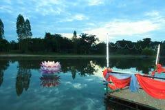 Loy Krathong tradition Stock Photos
