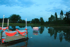 Loy Krathong tradition Royalty Free Stock Photography