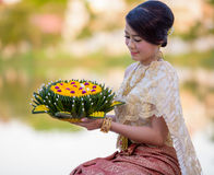 Loy Krathong Traditional Festiva Royalty Free Stock Photo