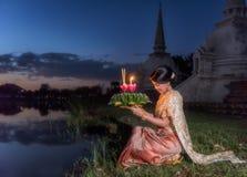 Loy Krathong Traditional Festival Fotografía de archivo