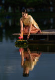 Loy Krathong Traditional Festival Imagen de archivo libre de regalías