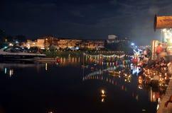 Loy Kratong Festival av Thailand Arkivbilder