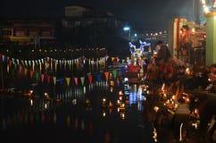 Loy Kratong Festival av Thailand Royaltyfri Fotografi