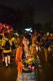 Loy Kratong festival in Bangkok, Thailand Royalty Free Stock Image