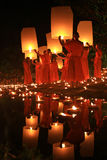 Loy Kratong Festival, Buddha Stock Photography