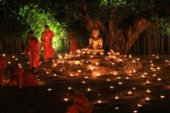 Loy Kratong Festival, buddhistisch stockfotografie