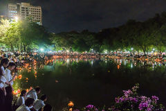 Loy Kratong Festival a célébré Images stock