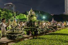 Loy Kratong Festival comemorou Fotografia de Stock Royalty Free