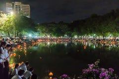 Loy Kratong Festival comemorou Imagens de Stock