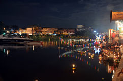 Loy Kratong Festival de la Thaïlande Images stock