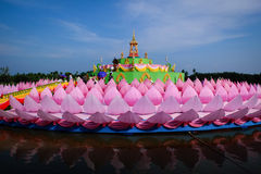 Loy Kratong Festival. Loi Krathong is traditionally inherited by the later Thailand Stock Photos