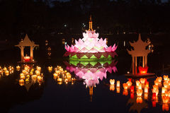 Loy Kratong Festival at Sukhothai Historical Park Royalty Free Stock Photography