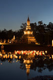 Loy Kratong Festival at Sukhothai Historical Park Royalty Free Stock Photos