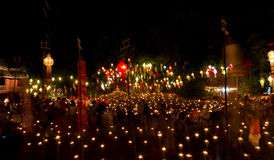 Loy Kratong Festival 2556 (2013) Tailândia Imagem de Stock