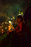 Loy Kratong festival in Thailand Royalty Free Stock Image