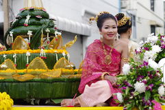 Loy kratong festival in Thailand Stock Photos