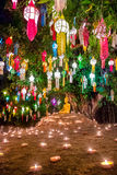 Loy Kratong Festival, Wat Pan Tao Temple, Chiang Mai Thailand. Royalty Free Stock Image
