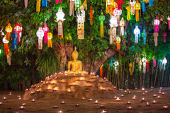 Loy Kratong Festival in Wat Pan Tao Temple Royalty Free Stock Images