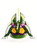 Loy kratong Festival on white background Stock Photo