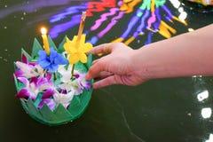 Loy Kratong festiwal, Bangkok Tajlandia festiwal zdjęcia stock