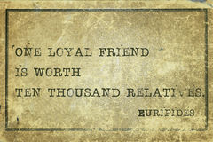Loyal friend print Stock Photos