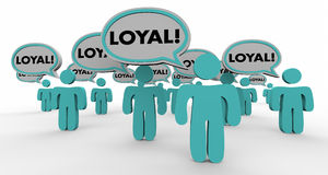 Loyal Return Customers Audience Speech Bubble People 3d Illustra. Tion Stock Photos