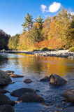 The loyal sock creek. Fall foliage along the beautiful loyal sock creek royalty free stock photo