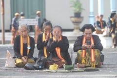 Loyaler Bediensteter Surakarta-Palastes Stockbild