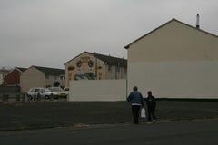 Loyales Wandgemälde, welches das Schließen von MAJESTÄT Prison Maze im Jahre 2000 gedenkt Lizenzfreie Stockfotos