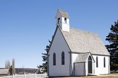 Loyalist Church at Kings Landing, New Brunswick Stock Photography