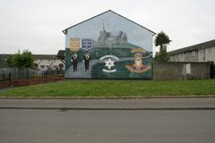 Loyalist mural supporting the Drumcree March, Belfast. Stock Photo