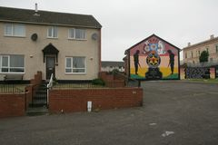 Loyalist murals on Hopewell Crescent, Lower Shankill, Belfast Royalty Free Stock Photo