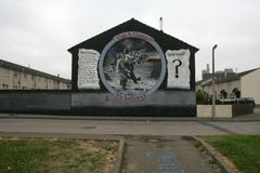 Loyalist murals on Lower Shankill, Belfast Stock Photos