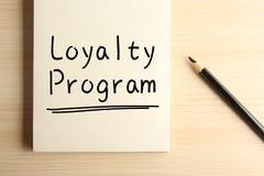 Loyalitäts-Programm lizenzfreie stockfotografie