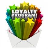 Loyalitäts-Programm-Umschlag-Einladungs-Marketing-Werbungs-Werbung Stockfotos
