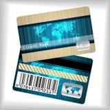 Loyaliteitskaart met gestreepte en gekrabbelde kaart Stock Foto