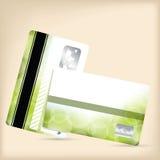 Loyaliteitskaart met groene bellenachtergrond Stock Afbeelding