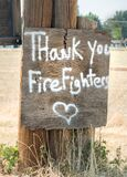 Thank you to the firefighters