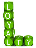 Loyalty. Word made with blocks on white background,  and customer retention concept Royalty Free Stock Photo