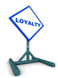 Loyalty banner. A signboard saying loyalty, concept of customer loyalty, brand loyalty and benefits to consumer and business alike Royalty Free Stock Photos