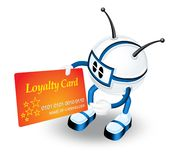 Loyalty card Royalty Free Stock Image