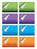 Loyalty card. Illustration of colorful loyalty card Royalty Free Stock Images